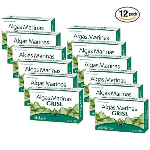 12pk - Seaweed Soap - Jabon de Algas Marinas - Grisi (3.5 Oz. X 12 Units)