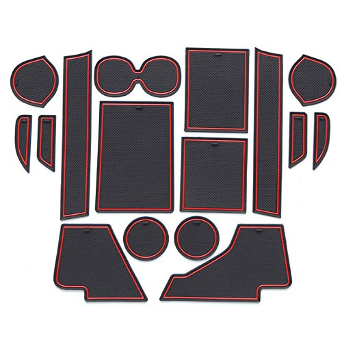 GLEETIEZ Car Non-Slip dust Gate Slot Pad Cup Mats Auto Interior Door Slot Pads Decoration Groove Mat,for Mitsubishi ASX 2020-Present
