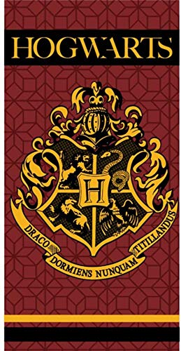 Wizarding World Toalla de Baño Playa Piscina Harry Potter Howgarts 140 x 70 cm ⭐
