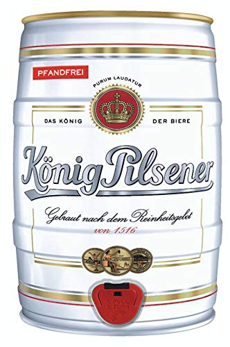 2 x Koenig Pilsener 5 Liter barril 4,9% vol König