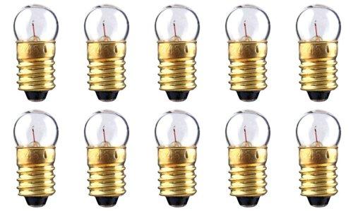 CEC Industries #233 Bulbs, 2.33 V, 0.6291 W, E10 Base, G-3.5 shape (Box of 10)