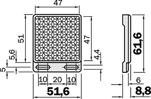 Sick Reflektor P250 47x47mm Reflektor für Lichtschranke 4047084102523