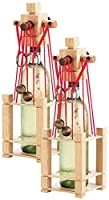 Ideal als Geschenk zu Geburtstagen, Festen u.v.m. • Edle Verarbeitung aus hochwertigem Echtholz • Flaschen sind im Puzzle transportsicher Flaschenpuzzle aus stabilem Echtholz im 2er-Set • Für Flaschen bis max. 26 cm Höhe Hochwertig und schön verarbei...