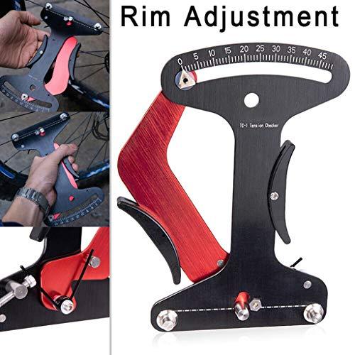 Elikliv Fahrradanzeige Meter Tensiometer Fahrradspeiche Spannradbauer Werkzeug Fahrradspeiche Reparaturwerkzeug Fahrrad Felgeneinstellung