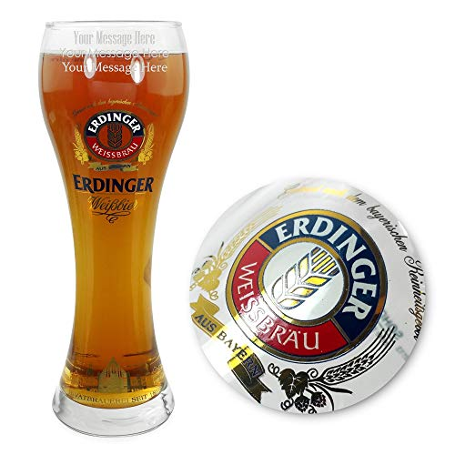 Personalised/Engraved Erdinger Pint Beer Glass - Enter Your Own Text