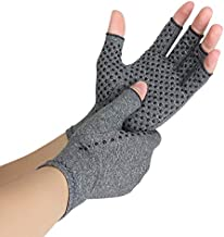 Arthritis Gloves Compression Gloves for Rheumatoid, RSI, Carpal Tunnel, Hand Gloves Fingerless for Computer Typing and Dailywork Hand Gloves Pain Relieve Support For Hands And Joints(Medium)