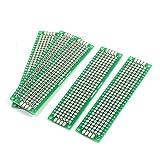 uxcell 両面PCBボード プリント基板 ユニバーサル基板 8cm x 2cm DIY 1.6mm厚 5個