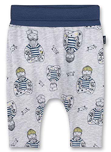 Sanetta Baby-Jungen Pants Long Shorts, hellgrau Melange, 074
