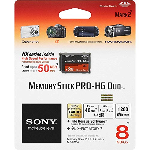 Memory Stick 8gb Pro Hg Duo Hx Nero