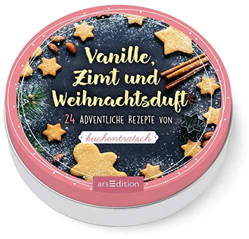 Adventskalender in der Dose: Vanille, Zimt und Weihnachtsduft. 24 adventliche Rezepte von Kuchentratsch: Adventskalender in dekorativer Dose