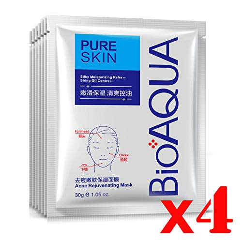 BIOAQUA 4in1 Face Acne Scar Removal Spots Pimples Oil Cream Face Masks Scar Blemish Marks Moisturizing Oil 100g+30g+30ml+4pcs X30g