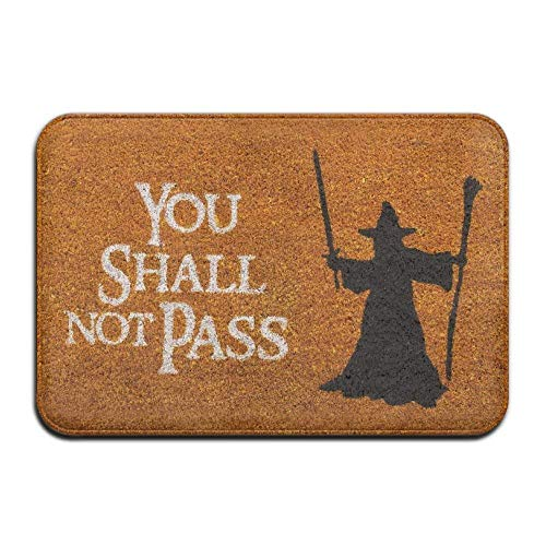 """werert Fußmatte mit Aufschrift \""""You Shall Not Pass\"""", 39 x 60 cm, saugfähig, rutschfest"""