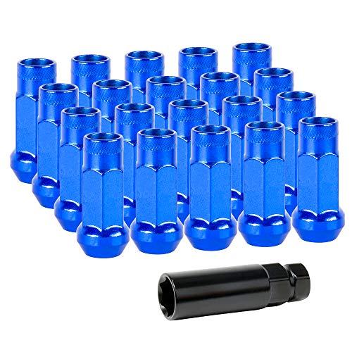 Lug Nuts Radmuttern Stahl M12x1,25 | Blau