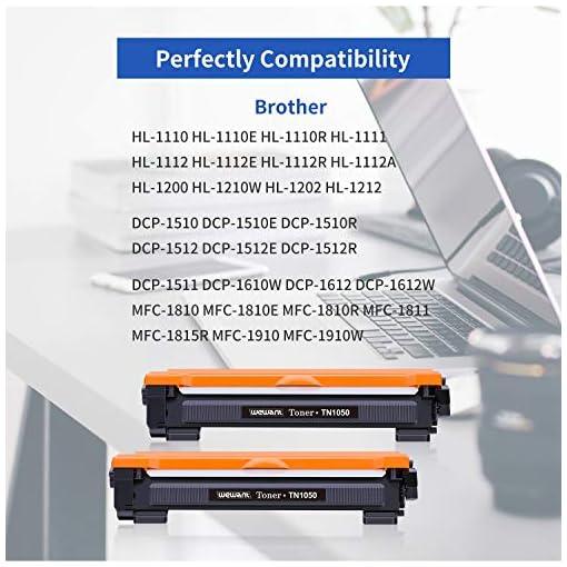 Wewant Toner TN-1050 Compatible Brother TN1050 Cartucho de Tóner para Brother HL-1110 HL-1111 HL-1112 HL-1210W HL-1202… 2