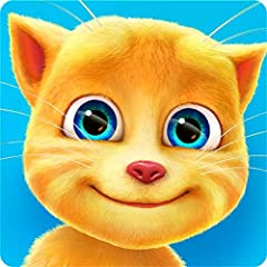 Have fun with Ginger: Pet him, poke him, tickle him and hear his cute laugh. Talk to Ginger: Talk to the little cat and he'll repeat in his cute voice. Get Ginger ready for bed: Shower and blow dry his fluffy fur, brush his teeth and take him to use ...