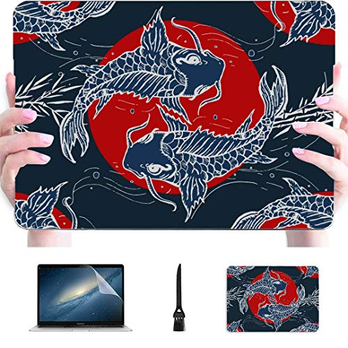 Macbook Pro 15 Accessories Traditional Japanese Style Plastic Hard Shell Compatible Mac Air 13' Pro 13'/16' Macbook Air Skin Protective Cover For Macbook 2016-2020 Version