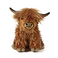 """Living Nature Soft Toy Large Plush 12"""" Highland Cow with Sound"""