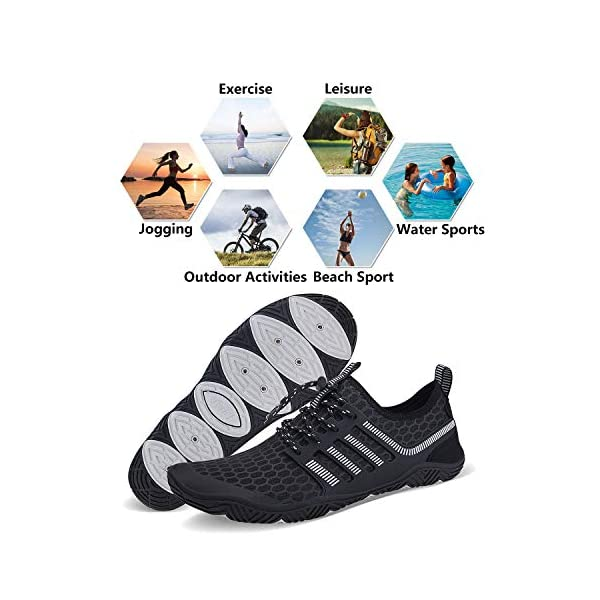 WYHAN Water Shoes Mens Womens Quick Dry Barefoot Aqua Socks Diving Sports Shoes for Beach Swim Surf Pool Yoga Outdoor Trip