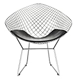 Modway CAD Contemporary Modern Wire Lounge Chair in Black