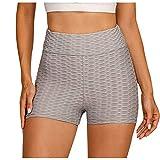Obestseller Shorts Pantalones Deportes Cortos de Fitness Mallas para Mujer Elástico de Alta Cintura para Correr Gimnasio Gym