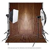 Gran telón de fondo Andoer 1,5x 2m, suelo de madera clásico de moda para el estudio del fotógrafo profesional. , 6