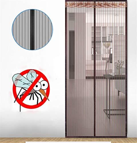Yao Magnetischer Bildschirm Türvorhangnetz, Anti-Insekten-Mesh Fly Screen Moskito-Schutznetz Magnetvorhänge für Türen Fenster, Super Quiet Stripes Verschlüsselung, Keine Lücke
