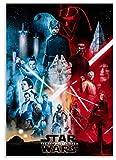 GuiYun Rompecabezas 1000 Piezas Star Wars Skywalker Saga Posters Juguetes para Adultos Juego de descompresión Material: cartón