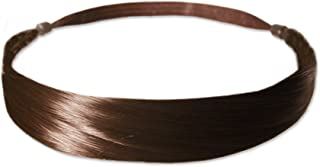 Mia Tonyband-Straight Hair Headband Made Of Beautiful Synthetic Wig Hair On An Elastic Band-Light Brown-Classic, Chic, Pretty (1 pc)