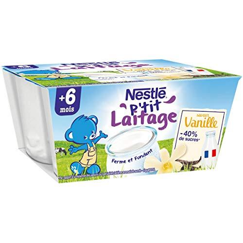 Nestlé Bébé P'tit Laitage Saveur Vanille - Laitage dès 6 mois - 4x100g - Pack de 6 ( 24 Laitages )