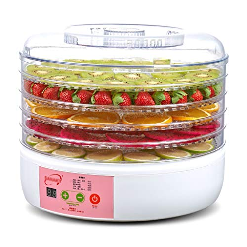 Haushaltsnahrungsmittelkonservierungsmaschine Haushaltsrunde Nahrungsmittelentwässerungsapparat-Plastikfruchttrockner 250w Gemüsedehydratisierungs-Maschinen-Hundefutterentwässerung