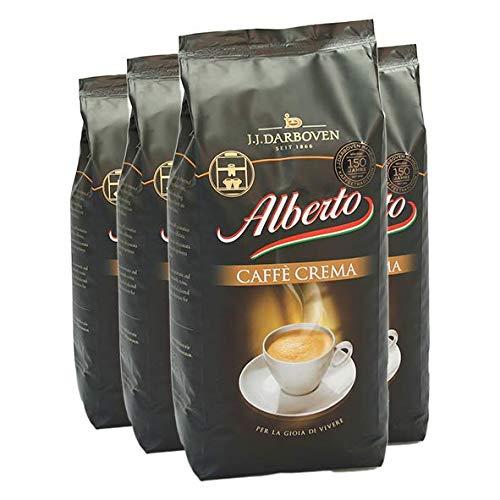Alberto Café Crèma Kaffee Bohnen 100% Arabica 4x1 kg