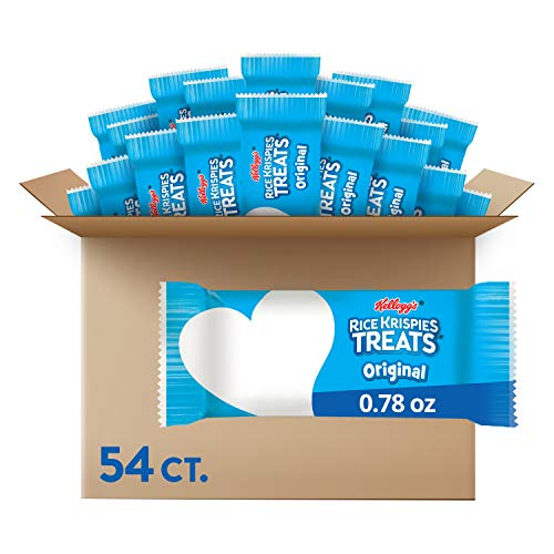 Kellogg#039s Rice Krispies Treats Crispy Marshmallow Squares Original School Lunch Snack 419oz Case 54 Count