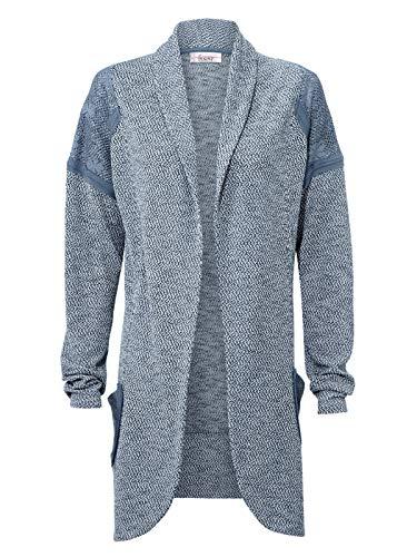 Linea Tesini Damen Designer-Cardigan, blau, Größe:44/46