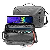 tomtoc Daily Shoulder Bag for 2020 10.9-inch iPad Air 4, 11-inch iPad Pro, Messenger Bag for 9.7-10 inch Tablet, Waterproof Crossbody Bag with Smart Organization for Accessories/Essentials Lightweight