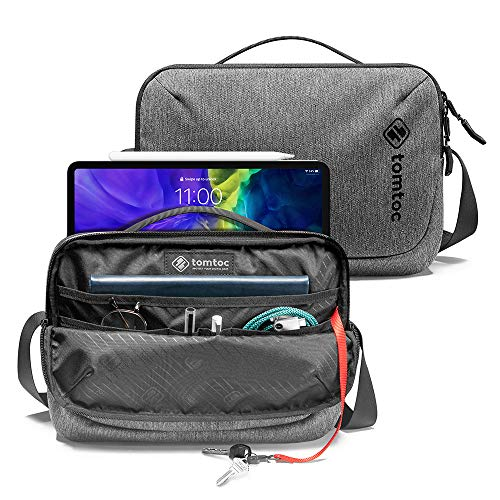 tomtoc Shoulder Bag, Small Crossbody Bag Messenger Bag for Travel, Work, Business, Casual Sling Bag compatible with 9.7-11 inch iPad, Commute Daily Bag for Device and Accessories