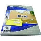 Nuove Etichette Adesive Staccabili Premium Easy Peel Di EJRange, 40 Etichette Per Foglio A...
