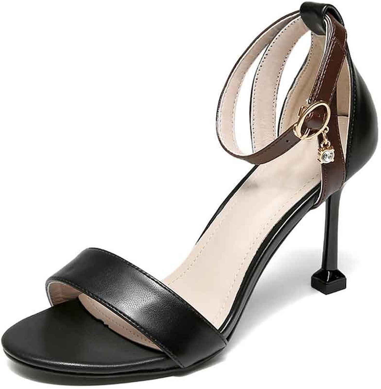 LIURUIJIA Women's Ankle Strap Open Peep Toe Party Heeled Sandals   Elegant, 5LX-9046-8