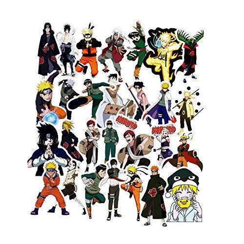 Ligoi - 50 Stück Naruto-Aufkleber, Anime-Charaktere, Mixture Decals Sticker für Koffer, Skateboard, Naruto-Figur, Graffiti-Aufkleber auf Laptop