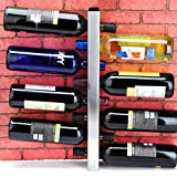 JPL Botelleros Wine Shelf Wine Bar Contemporáneo 8 Botellas Montado en la pared de metal, Botellero Wine, Botellero horizontal