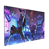 Saneet Game Poster Junkrat Ov.er.watch Canvas Wall Art Decorative Picture Kitchen Painting For Home Decor No Frame-12' X 18'Inch