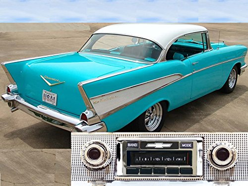 Custom Autosound Stereo compatible with 1957 Chevy Bel Air & Nomad, 150/210, USA-630 II High Power 300 watt AM FM Car Stereo/Radio