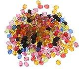 Perlin - 2000stk Kunststoffperlen 4mm Spacer Acrylperlen Facettiert Kugeln Rund Plastik Perlen für Perlenset Bastelzubehör Schmuckdesign Schmuck Selber Machen D803 x2
