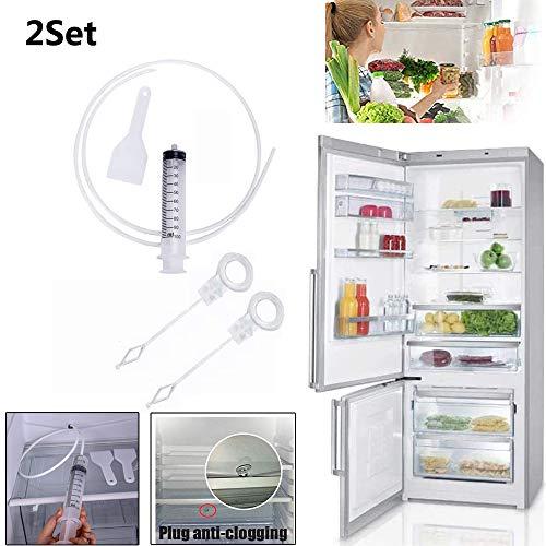 Kühlschrankentleerungslochentferner, Abflussreinigerstifte, Kühlschrankreiniger, Wiederverwendbare Verstopfungsentferner-Reinigungswerkzeuge, Reinigungswerkzeugsatz Für Haushaltskühlschränke (A,2 Set)