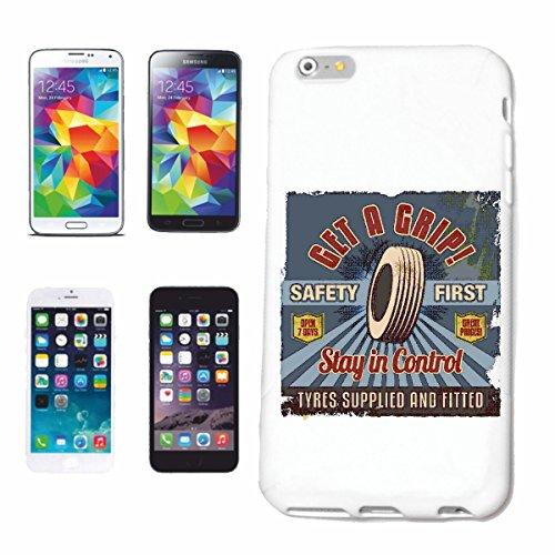 Hard Cover - Funda para teléfono móvil Compatible con Samsung Galaxy S7 Get A Grip Estancia EN Servicios DE Control neumático Reifenhandel Hot Rod COC