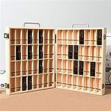 CHSEEO 72 Trous Boîte de Stockage d'Huile Essentielle Rangement Coffret en Bois Aromathérapie Présentoir à Huiles Essentielles Organisateur Support de Vernis à Ongles Porte-Lèvres #1