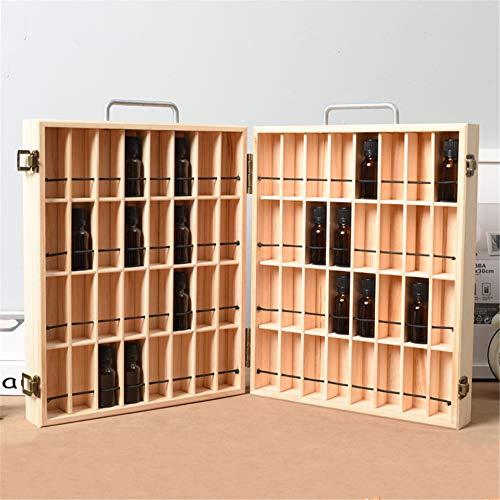CHSEEO Ätherisches Öl Display Box Halter Organisator Aufbewahrungsbox 72 Löcher Holzbox Kann Nagellackständer für Nagellack, Lippenstift, Duftöle und Ätherische Öle #3