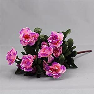 Artificial Flowers Yiting 7 fork simulation rhododendron flower fake flower flower, purple