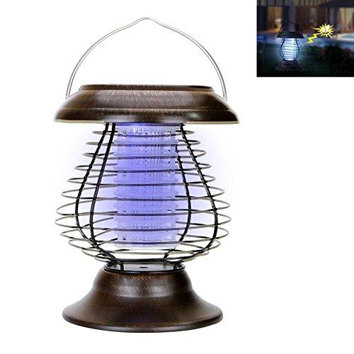 Lampada solare antizanzareBangweier, lampada ad alimentazione solare, per l'esterno, lampada che attira e fulmina gli insetti, con funzione di ricarica solare.