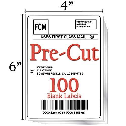JETZAP Etiquetas de envío precortadas de 10 x 15 cm [15 x 10 cm] para impresora láser o chorro de...