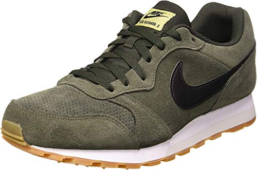 Nike MD Runner 2 Suede, Hombre, Multicolor (Sequoia/Black/Lawn/Gum Light Brown 300), 41 EU